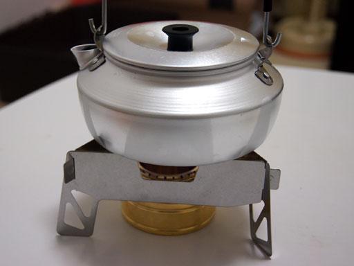 ソロキャンプ用湯沸かしシステム
