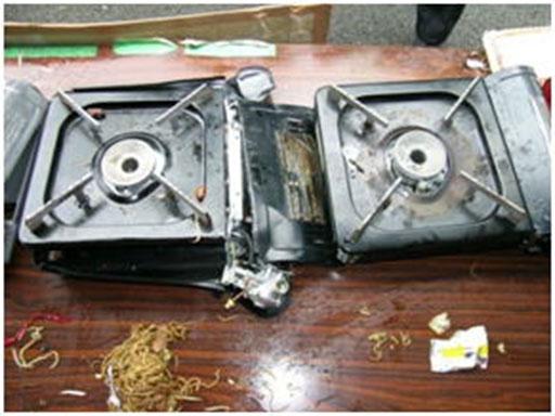 カセットコンロ爆発事故