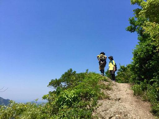 登山中の休憩